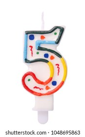 Birthday candles in the form of figures (numbers, dates) for cake isolated on white background. The concept of celebrating a birthday, anniversary, important date, holiday, table setting, cake deco