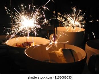 Birthday celebration done with mini firework