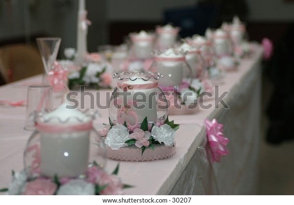 birthday favors on table