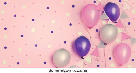 birthday little girl princess party concept.