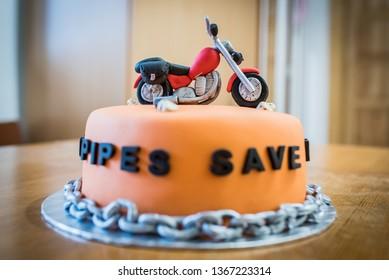 Super Bike Birthday Cake Stock Photos Images Photography Shutterstock Funny Birthday Cards Online Alyptdamsfinfo