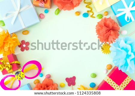 Birthday Party Background Festive Decor Carnival Stock Photo Edit
