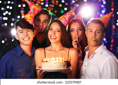 Birthday party in club
