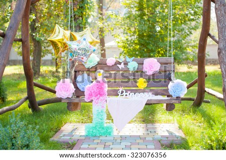 Birthday Party Decorations With Ballons And Big Figure 1Outdoor Park