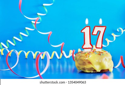 sweet seventeen images stock photos vectors shutterstock https www shutterstock com image photo birthday seventeen years cupcake white burning 1354049063