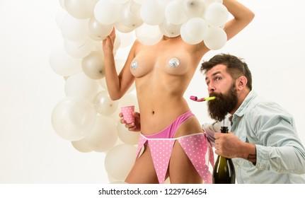 Birthday stripper for him. Man bearded bachelor celebrate birthday. Strip dance for birthday surprise. Nude sexy female strip dancer birthday surprise. Idea for bachelor party. Party for adult.