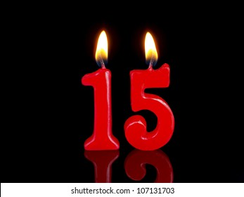 Birthday Anniversary Candles Showing Nr 15