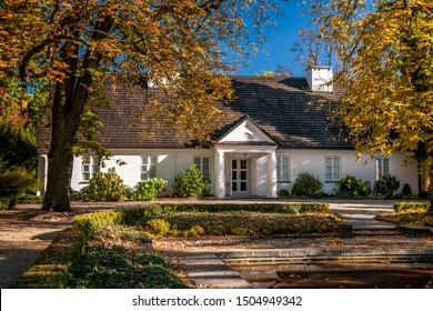The Birthplace of Fryderyk Chopin and Park. Zelazowa Wola, Masovian Voivodeship, Poland.