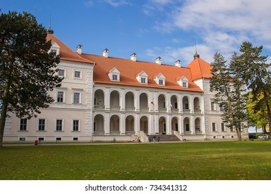 Birzai castle in Birzai city in Lithuania.