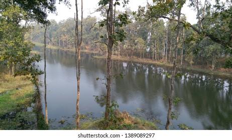 BIS HAZARI LAKE IN CHITWAN, NEPAL