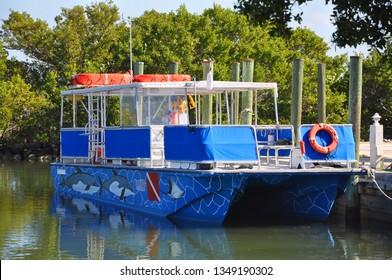 BISCAYNE NATIONAL PARK - DEC 19, 2012: Tour Boat Boca Chita Homestead in Biscayne National Park, Florida, USA.