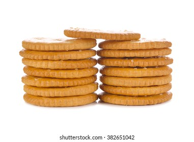 Biscuit  on a white background.