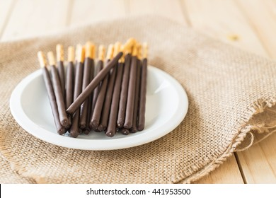 biscuit stick with chocolate flavored