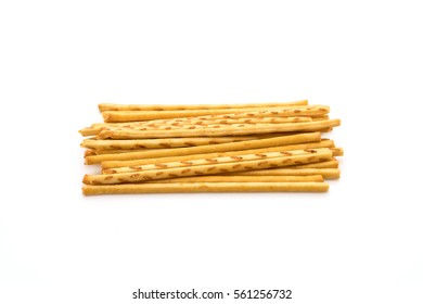 biscuit stick on white background
