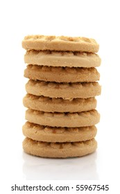 biscuit tower isolated on white