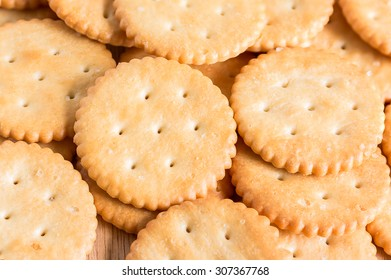 Biscuits background , selective focus