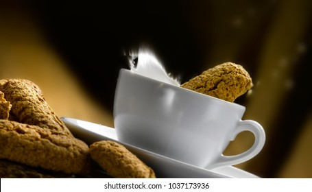 biscuits and a cup of milk