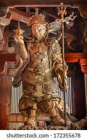 Bishamonten - one of the Japanese Seven Gods of Fortune at Todaiji Temple in Nara