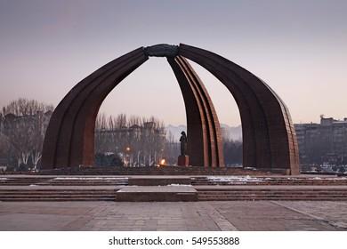 BISHKEK. KYRGYZSTAN. 19 DECEMBER 2013 : Monument of Victory in Bishkek. Kyrgyzstan