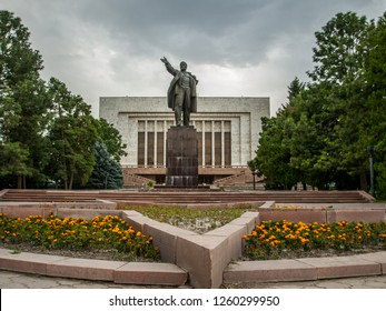 Bishkek, Kyrgyzstan - 20th July 2015 - Statue of V.I. Lenin in capital city of Kyrgyzstan - Bishkek
