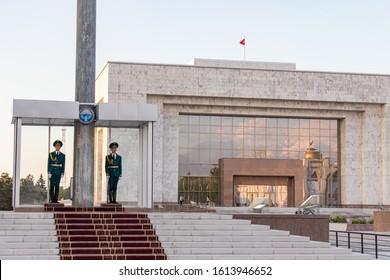 Bishkek, Kyrgyzstan - April 27, 2018: Alatoo Square In Bishkek