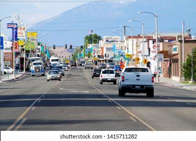 Bishop, California, 09/15/2011 Main Street of Bishop, California looking north