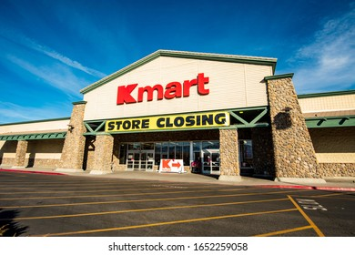 Bishop, California / USA - February 15 2020: KMart closing their store