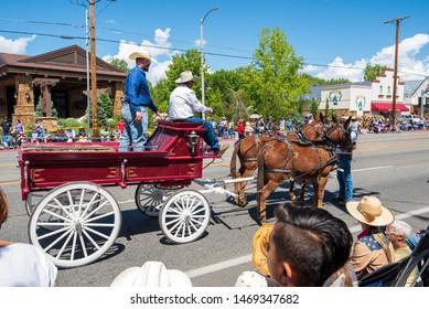 Bishop, California / USA - May 24 2019: Mule Days Parade