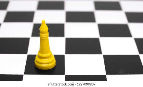 Bishop chess figure isolated in white background, bishop concept