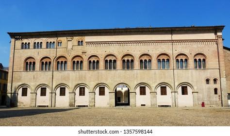 Bishop Palace on Piazza Duomo, Parma, Italy