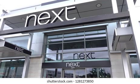 Bishopbriggs, Glasgow, Scotland, UK; September 16th 2018: next store at Strathkelvin retail park.