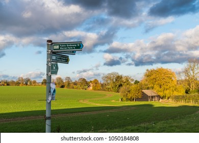 Bishops Stortford, UK - 11 04 2017: sign on walkway around Bishops Stortford
