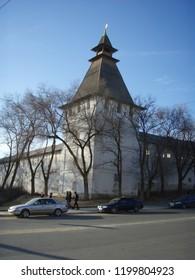 The Bishop's tower of the Astrakhan Kremlin.Astrakhan.Russia.November 2013.