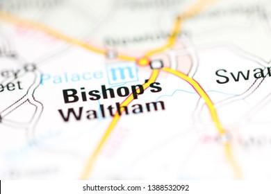 Bishop's Waltham. United Kingdom on a geography map