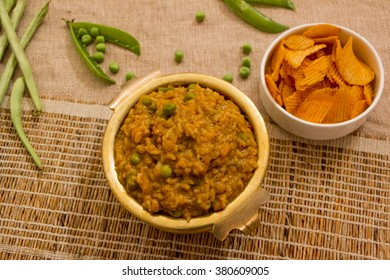 Bisi bele bath is a rice dish in which rice, vegetables and lentil are cooked together and it is also a popular dish from karnataka, India