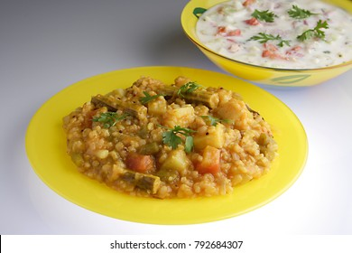 BISI BELE HULI ANA & PACHHADI:SOUTH INDIAN RICE WITH DAL & VEGETABLES & CURD