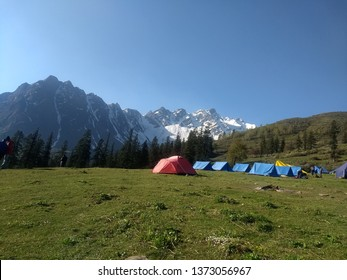Biskeri Thatch Base Camp_Sarpass Trek, Manikarn, Kasol, Manali, Himachal Pradesh, India 2019
