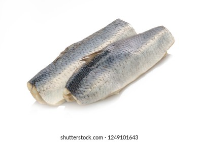 Bismarck herings fish white isolated