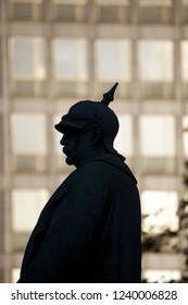 Bismarck silhouette in Essen, Germany