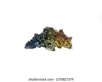 Bismuth colorful gem metal