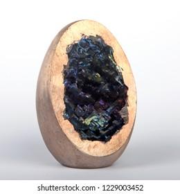 Bismuth geode. Closeup.