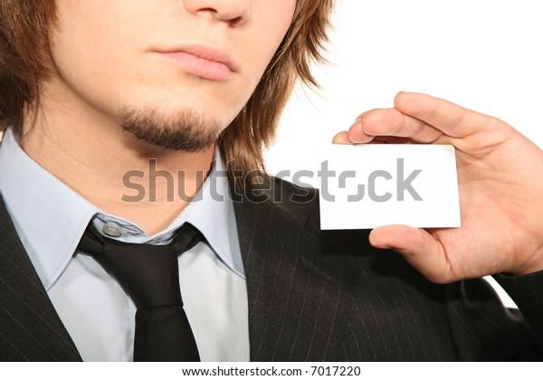 bisnessman with card