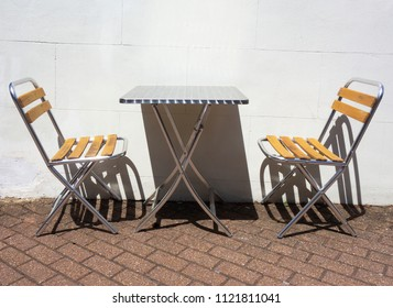 Bistro Cafe Chairs and Table Outside