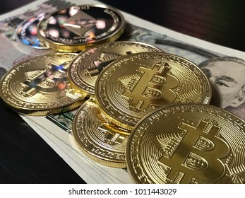 Bit coin, encryption currency, virtual currency image