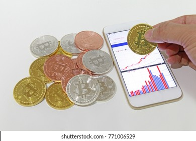 Bit coin transaction using smartphone application