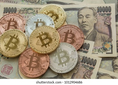 Bit coins with  US dollar and Japanese Yen