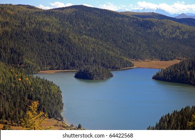 Bita lake in Pudacuo National Park, Yunnan China.