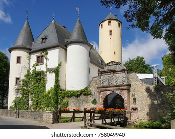 BITBURG, GERMANY - JUNE 26, 2017: Old Rittersdorf Castle close to Bitburg on June 26, 2017 in Germany, Europe