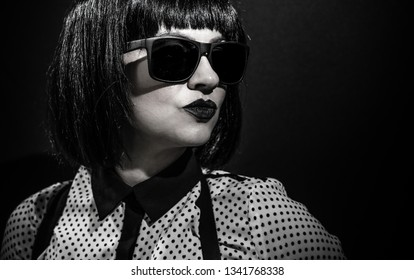 bitchy girl with glasses