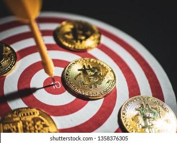 Bitcion achievement target concept